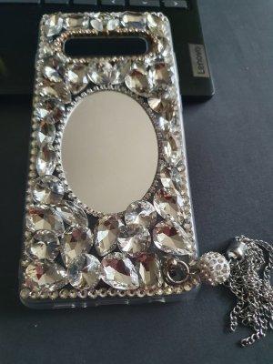 Hoesje voor mobiele telefoons zwart-zilver