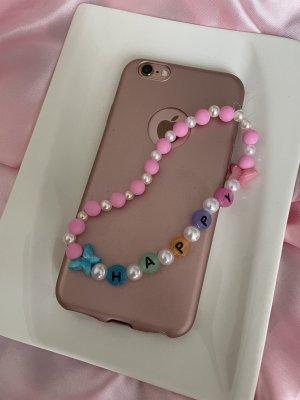 Collier de perles rose-blanc