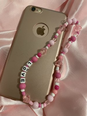Collier de perles rose