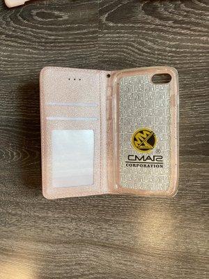 Carcasa para teléfono móvil color rosa dorado-color oro