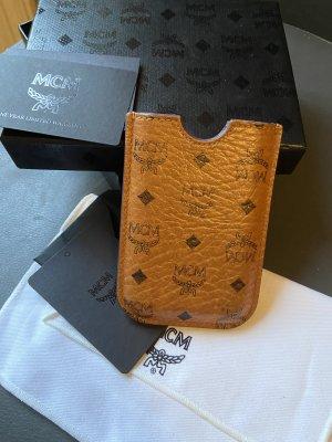 MCM Étui pour téléphone portable brun sable-cognac