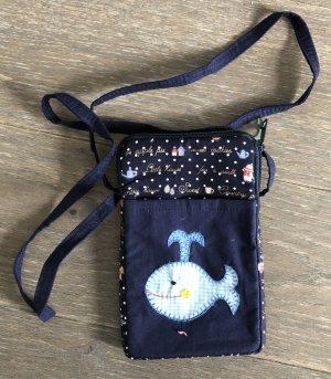 Handmade Pokrowiec na telefon komórkowy ciemnoniebieski Bawełna