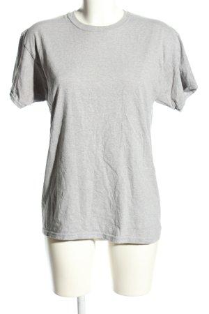 Hanes T-Shirt hellgrau meliert Casual-Look