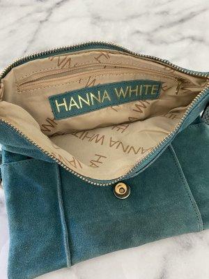 Hanna White Borsa clutch petrolio-oro
