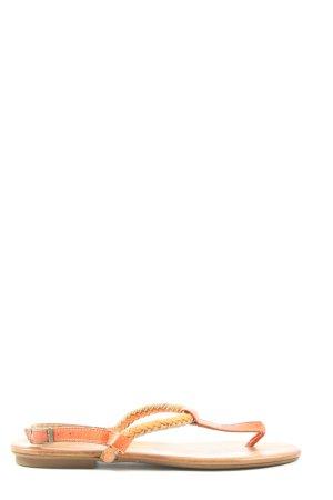 Hanna White Sandały japonki brązowy Warkoczowy wzór W stylu casual