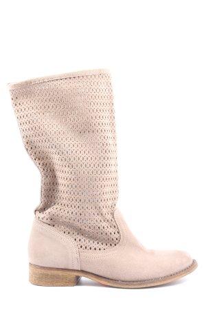 Hanna White Botas deslizantes crema look casual