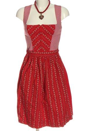 Hannah Collection Dirndl rot-weiß Blumenmuster klassischer Stil
