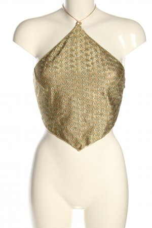 Hanne Bloch Backless Top gold-colored themed print elegant