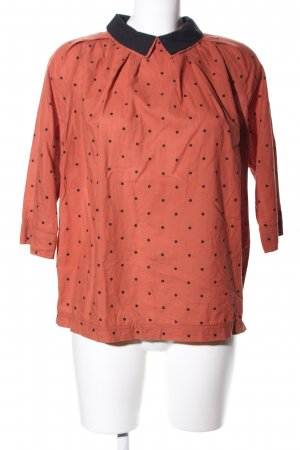 Hannes Roether Schlupf-Bluse rot-schwarz Punktemuster Casual-Look
