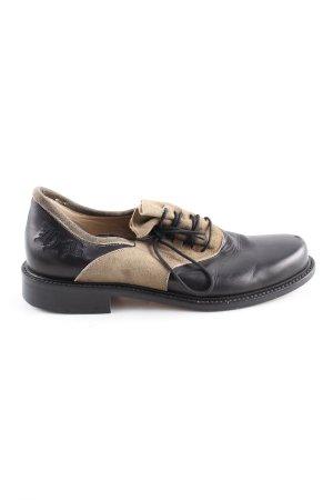 Hans Behr Scarpa cap-toe nero-bianco sporco elegante
