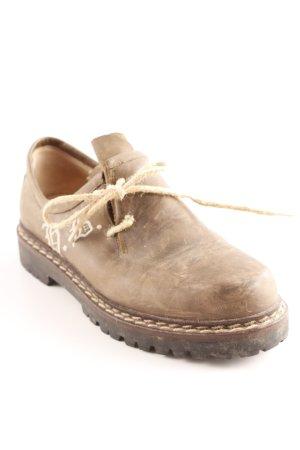 Hans Behr Schnürschuhe graubraun Vintage-Look