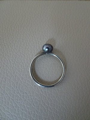 Hans Henrik Nygaard Srebrny pierścionek srebrny-szary
