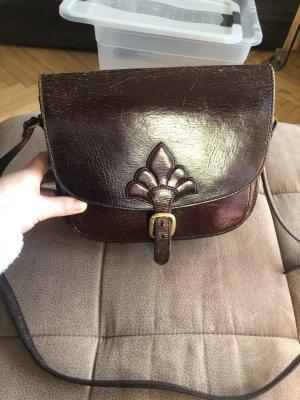 Crossbody bag bordeaux-brown red