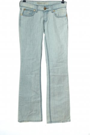 Happiness Jeansschlaghose blau Casual-Look