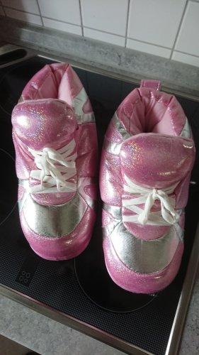 Happy Feet Hausschuhe Plüschschuhe Glitzer pink Gr 40/41 NEU aus den USA