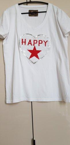 Happy T-Shirt mit wechselbaren Pailletten