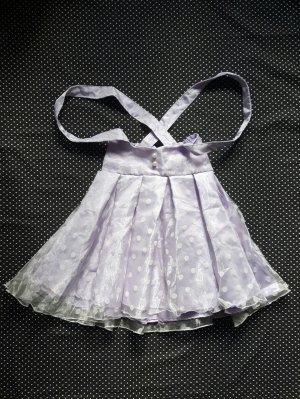 Jupe à bretelles blanc-violet