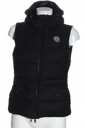 Harbour Hooded Vest black quilting pattern casual look