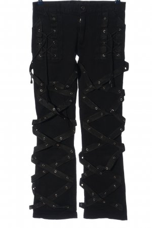 Hard Leather Stuff Pantalone a zampa d'elefante nero stile casual