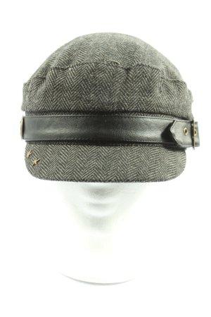 hard rock Casquette gavroche gris clair-noir style décontracté