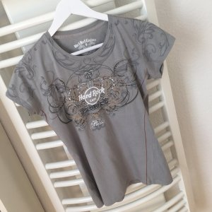 HARD ROCK CAFE Couture Paris Vintage T-Shirt bluse mit Strasssteinen Gr:S