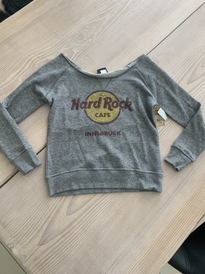 Hard Rock Cafe Innsbruck Carmenausschnitt Sweatshirt Shirt French Terry