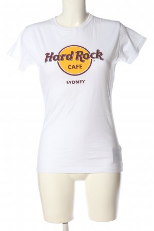 Hard Rock Cafe Print-Shirt Motivdruck Casual-Look