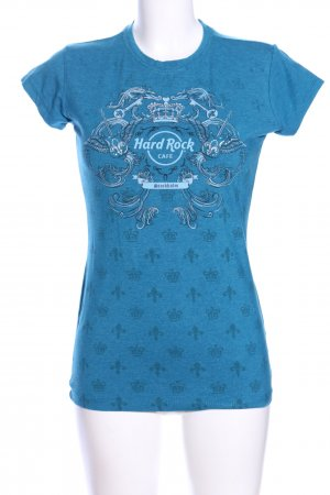 Hard Rock Cafe Print-Shirt abstraktes Muster Casual-Look