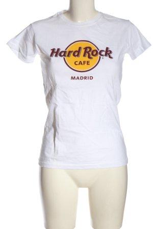 Hard Rock Cafe Print-Shirt weiß Schriftzug gedruckt Casual-Look