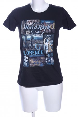 Hard Rock Cafe Print-Shirt schwarz Motivdruck Casual-Look