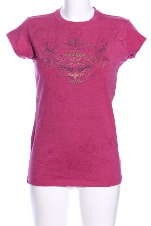 Hard Rock Cafe Print-Shirt pink meliert Casual-Look