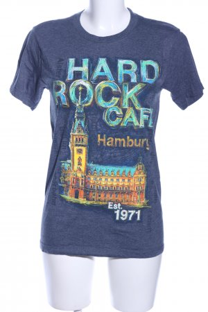 Hard Rock Cafe Print-Shirt meliert Casual-Look