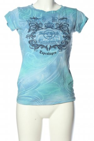 Hard Rock Cafe Print-Shirt blau Allover-Druck Casual-Look