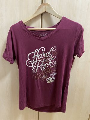 Hard Rock Cafe Print Shirt carmine-dark red