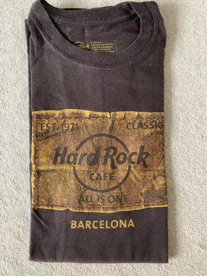 Hard Rock Cafe Shirt unisex aus Barcelona Gr.S