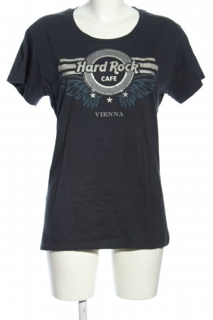 Hard Rock Cafe T-Shirt blau Motivdruck Casual-Look