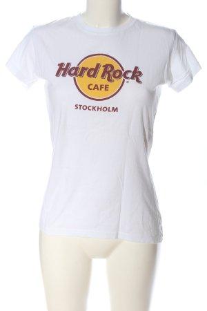 Hard Rock Cafe T-Shirt Schriftzug gedruckt Casual-Look