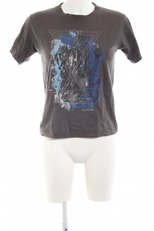 Hard Rock Cafe T-Shirt braun-blau Motivdruck Casual-Look