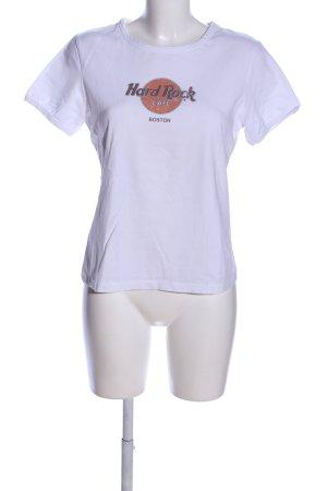 Hard Rock Cafe T-Shirt lila-braun Motivdruck Casual-Look