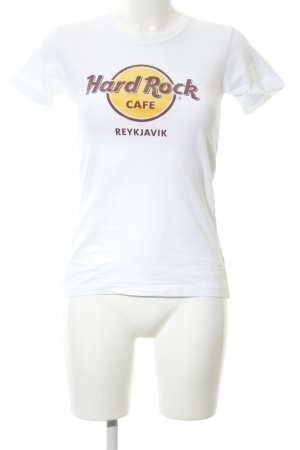 Hard Rock Cafe T-Shirt weiß Motivdruck Casual-Look