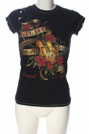 Hard Rock Cafe T-Shirt Motivdruck Casual-Look
