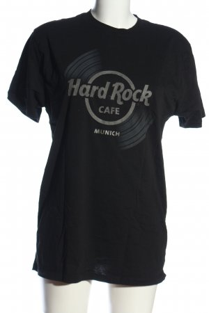 Hard Rock Cafe T-Shirt schwarz-hellgrau Motivdruck Casual-Look