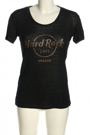 Hard Rock Cafe T-Shirt schwarz-bronzefarben meliert Casual-Look