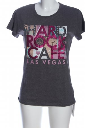 Hard Rock Cafe T-Shirt hellgrau-pink meliert Casual-Look