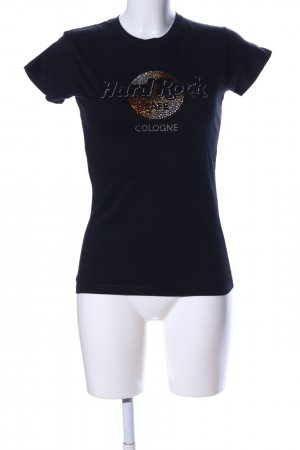 Hard Rock Cafe T-Shirt schwarz Motivdruck Casual-Look