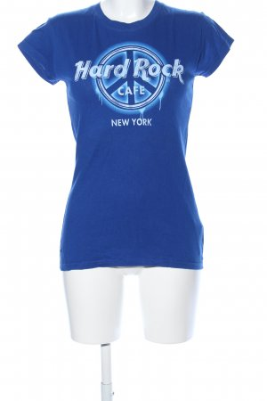 Hard Rock Cafe T-Shirt blau Motivdruck Casual-Look