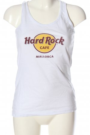 Hard Rock Cafe Tanktop weiß Motivdruck Casual-Look