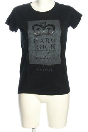 Hard Rock Couture Print-Shirt schwarz-hellgrau meliert Casual-Look