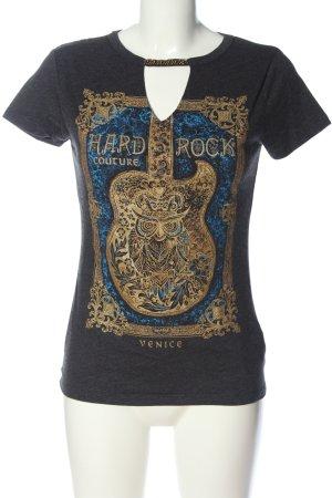 Hard Rock Couture Print-Shirt Motivdruck Casual-Look