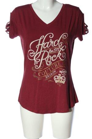 Hard Rock Couture Print-Shirt Schriftzug gedruckt